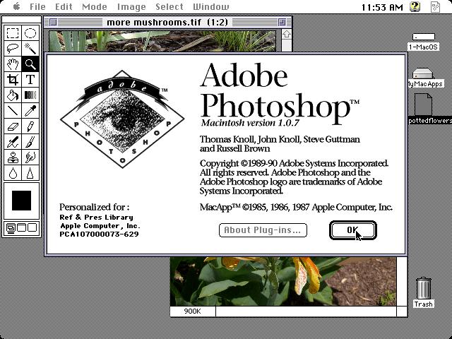proceso evolutivo de Photoshop